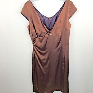 Molly Anthropologie silk cocktail dress size 6
